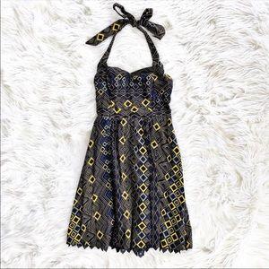Anthropologie edme & esyllte navy marin dress